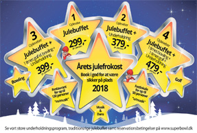 Julefrokost 2018 – Stjerneoplevelser