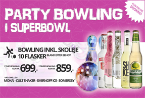 Party bowling i SuperBowl