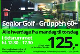 Senior golf kr. 125,- pr. time pr. simulator
