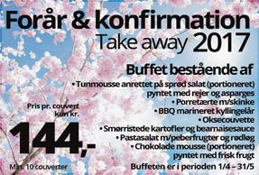 Take away forår/konfirmationsbuffet