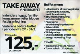 Take away vinterbuffet kr. 125,-