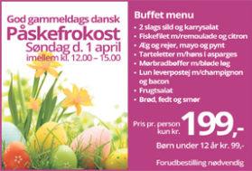 Påskefrokost søndag d. 1. april