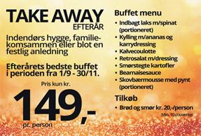 Take away efterårsbuffet 2018