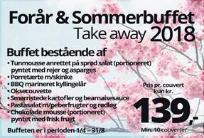 Take away forår & sommerbuffet 2018
