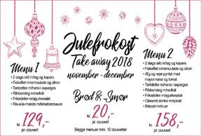 Take away julefrokost 2018