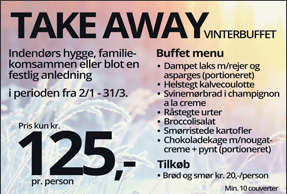 Take away vinterbuffet 2019