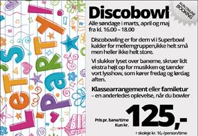 Discobowl – søndage i marts, april og maj