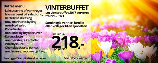 Vinterbuffet 2017 kr. 218,-
